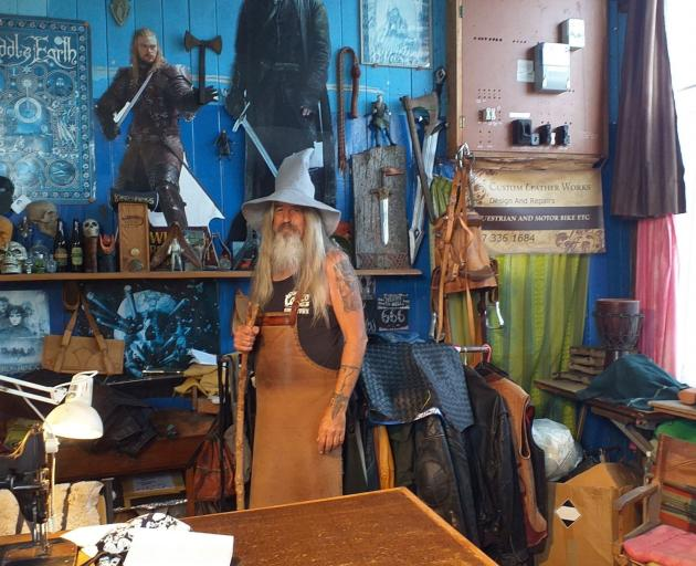 Steve Mannning is a ''wizardly'' leather craftsman in Rahotu.