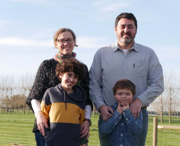 Argentinian couple Natalia Garbe and Fernando Boris moved to Oamaru in March with their sons...