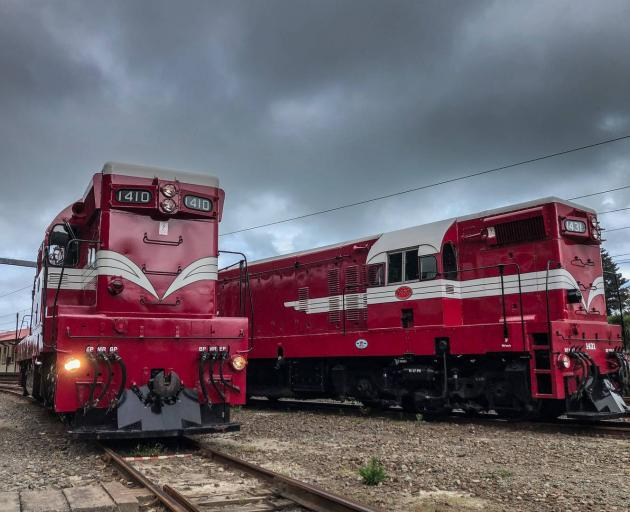 The two DA locomotives went into service as Hillary was on Everest. Photo: Supplied