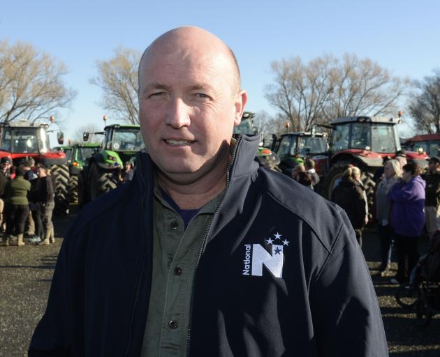 National agriculture spokesman David Bennett at the Gore Groundswell protest. PHOTOS: GERARD O'BRIEN