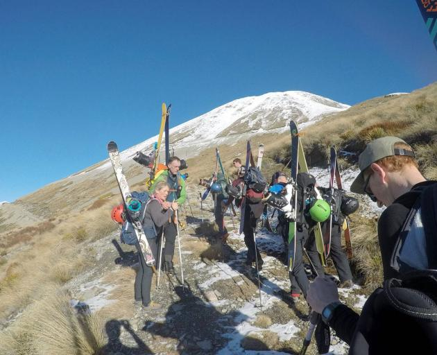 Walking was the only way up to the snowline until access roads were fixed this week. Photo:...
