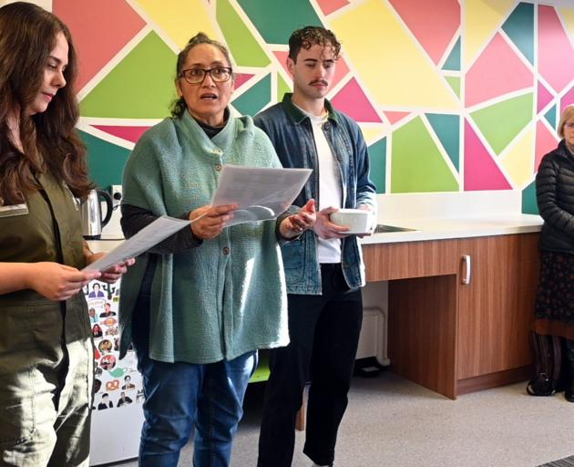 Announcing the opening of the new queer space at the University of Otago yesterday are (from left...