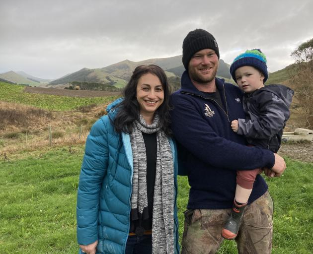 The McNabs, of Lochindorb farm near Owaka, (from left) Jade, Lyndon and Hollis (4), have been donating to charity Meat the Need since it began a year ago. PHOTO: MARY-JO TOHILL