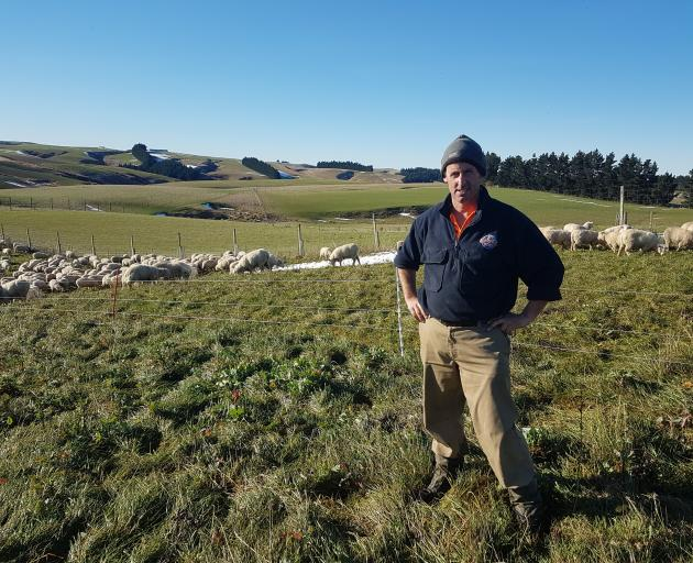 Back in April, when he could see his winter feed was going to be tight, Mahinerangi farmer Dave Vaughan started making decisions to keep his stock in good condition through the winter and into lambing time. PHOTO: SUPPLIED