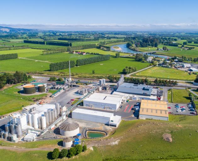 The Fonterra Stirling dairy processing plant, near Balclutha in South Otago. PHOTO: FONTERRA