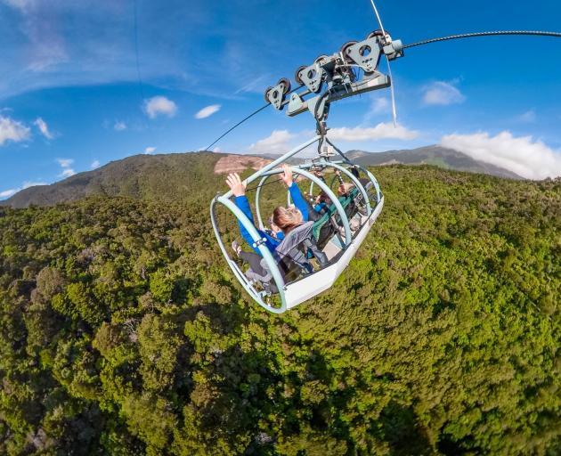 Skywire serves up delirious views. Photo: Cable Bay Adventure Park