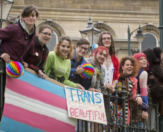 Inviting people to a trans liberation party in the Octagon are Dante Dawes, Bambi Throp, Charis...