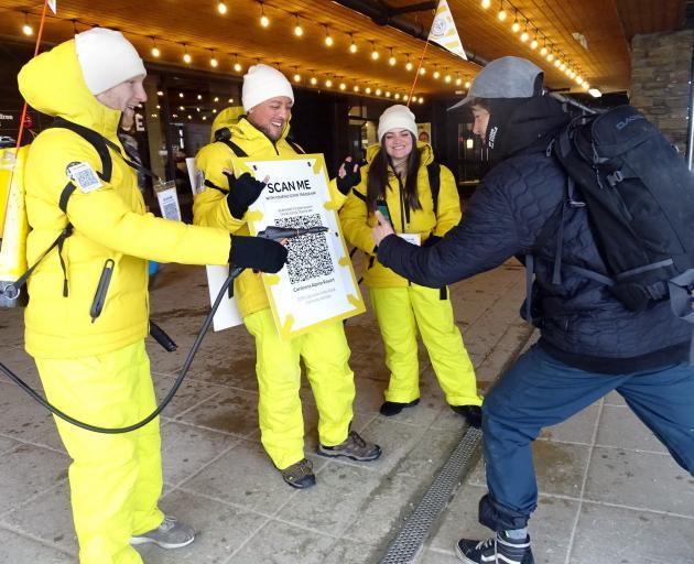 The Cardrona Alpine Resort Covid app scan and hand sanitiser patrol made ...