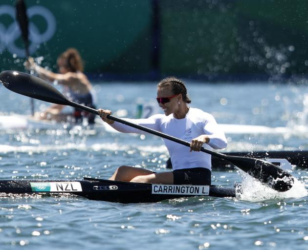 Lisa Carrington powers to victory in the women's K1 200m  yesterday. PHOTOS: GETTY IMAGES