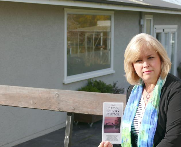 Adrienne Scott outside the short-term studio at her home in Balclutha, for which she is being...