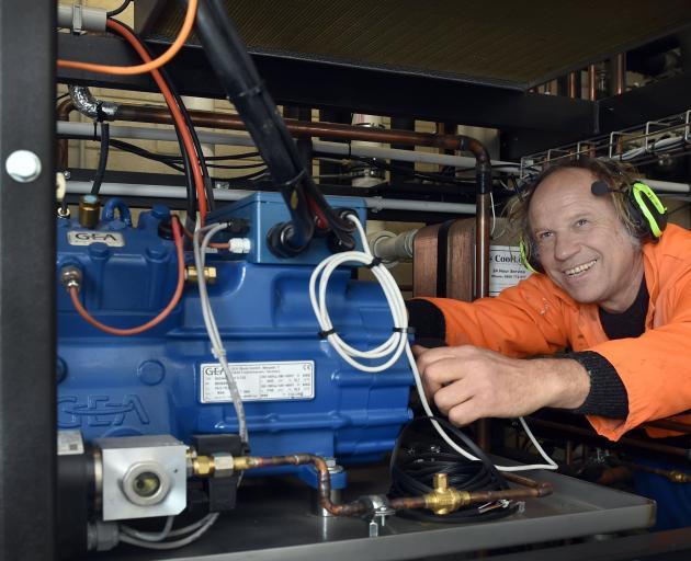 Refrigeration engineer Hagen Bruggemann, of CoolLogic, says the refrigeration unit he  built for...