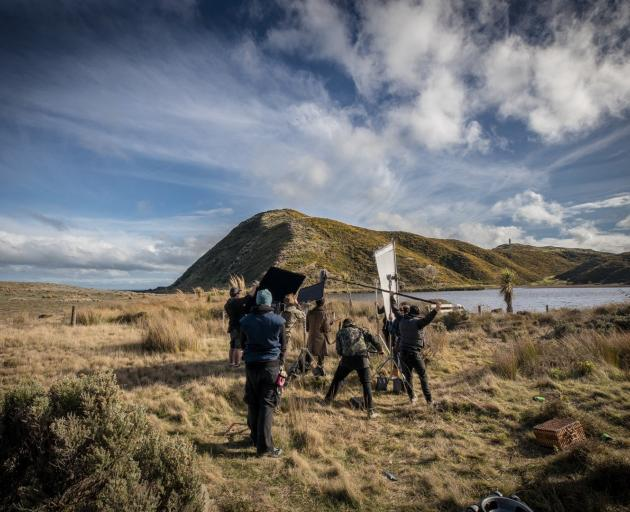 Filming of Coming Home in the Dark on Wellington's coast. PHOTO: SUPPLIED