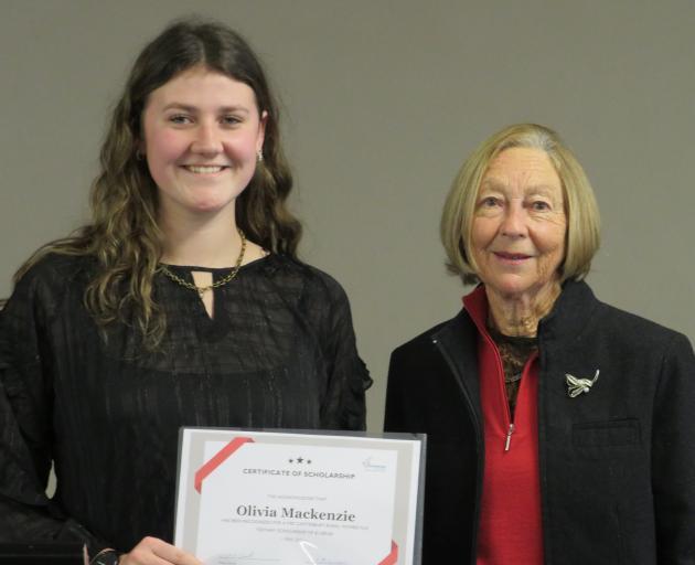 Tertiary student Olivia Mackenzie (left) and Pauline Hewson, of Mid Canterbury Provincial Rural...