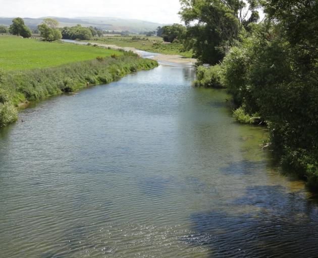 The Waihemo Shag River on Horse Range Rd, near Palmerston, in late spring. PHOTO: BILL CAMPBELL