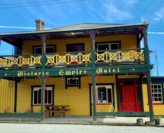 The historic Empire Hotel in Ross.