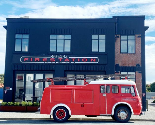 Hokitika Fire Station, now a boutique accommodation provider.