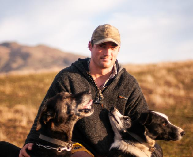 Ben Maxwell with some of his dogs. Mr Maxwell has traded Invercargill for farming in the Lindis Pass where he is head shepherd at Longacre Station. PHOTOS: SHANNON THOMSON