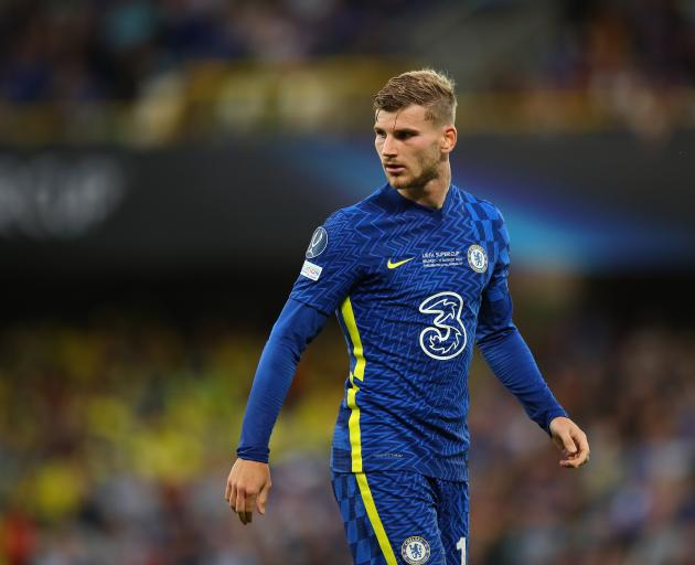 Timo Werner will eventually figure out where the net is, and the off-side line. Photo: Getty Images
