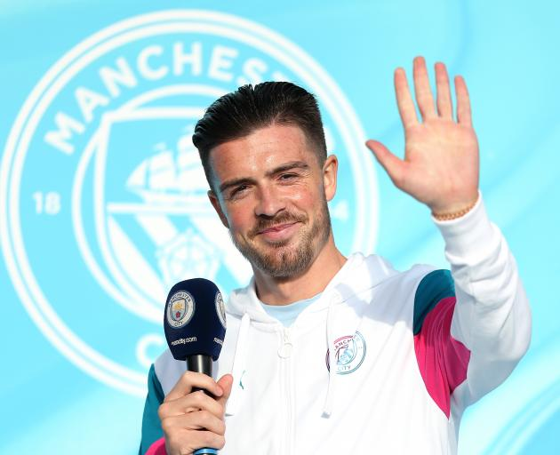 Record signing Jack Grealish (25) is unveiled to Manchester City fans at Etihad Stadium this week...