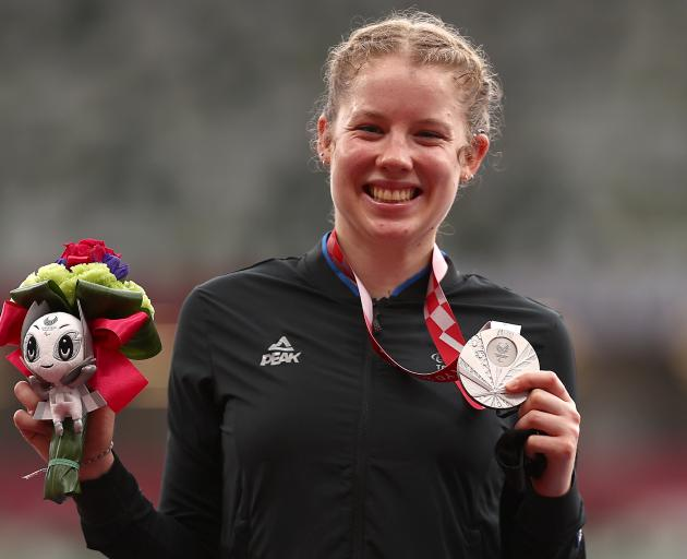 Sprinter Danielle Aitchison claimed New Zealand's fourth medal of the Games. Photo: Getty Images