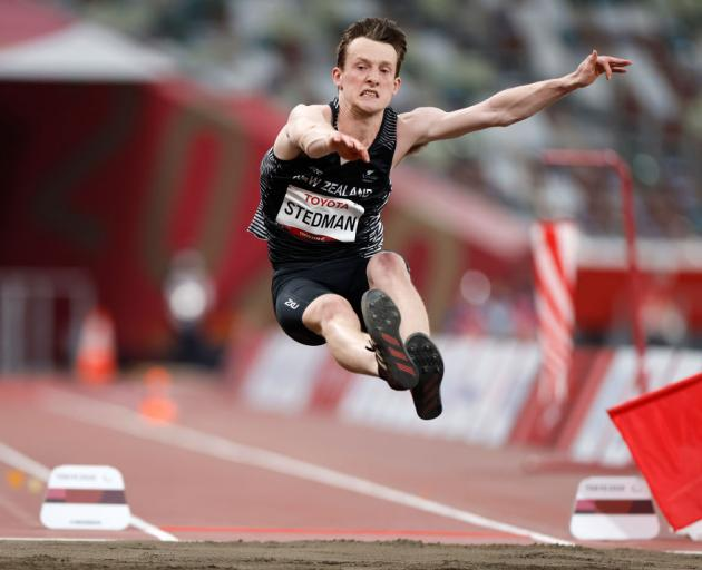 William Stedman of Team New Zealand competes in the men's Long Jump - T36 on day 6 of the Tokyo 2020 Paralympic Games at Olympic Stadium. Photo: Getty Images