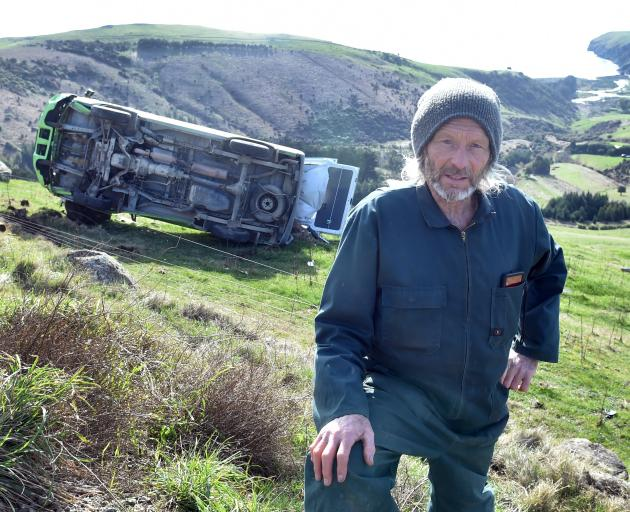 Heyward Point resident Rod Rust is sick of vehicles going off Heyward Point Rd. PHOTO: PETER...