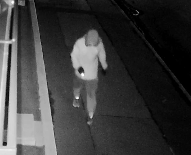 CCTV footage of an alleged car thief near Blackwells City Holden on Moorhouse Ave. Image: Supplied
