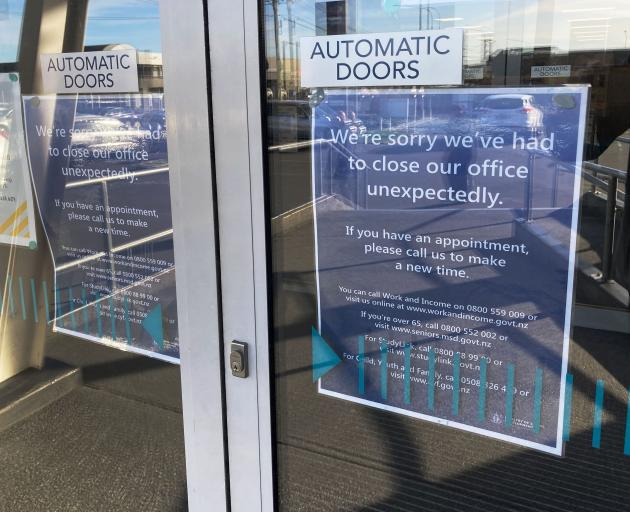 The WINZ office in Sydenham was locked down after the staff member was attacked on Friday. Photo:...