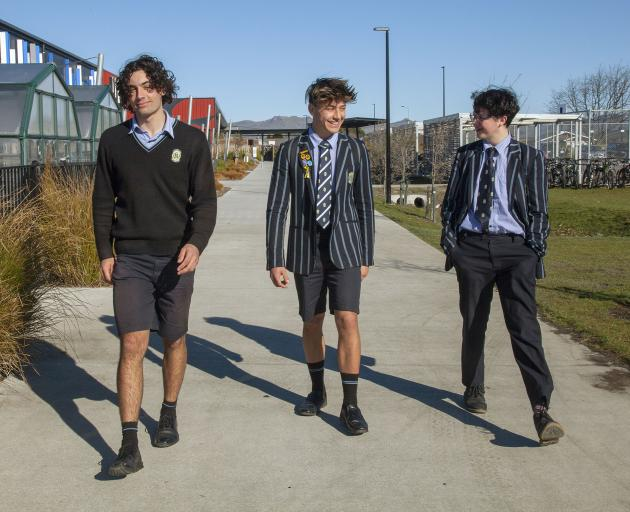 The boys are targeting the public walkway that cuts through their school. Photo: Geoff Sloan