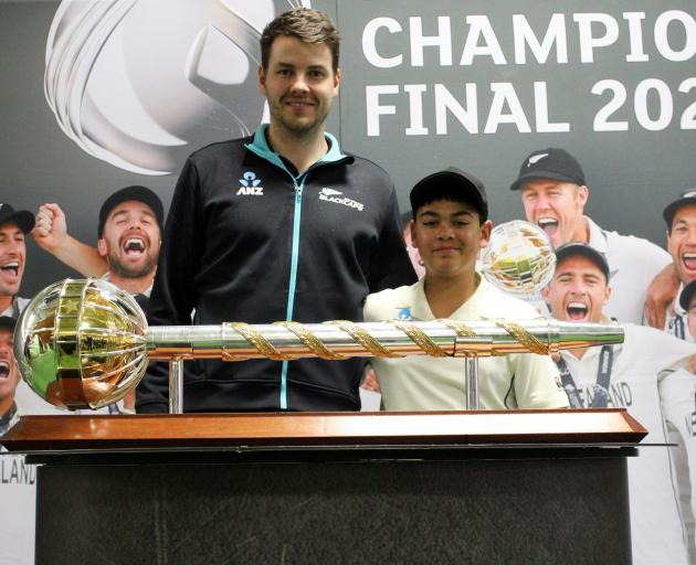 Kalai Carran (12) came from Te Anau to see the Mace and meet the Black Caps in Invercargill...