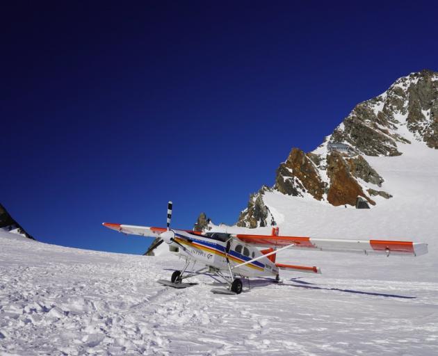 A Mount Cook ski plane onHaupapa Glacier. PHOTO: JAMES MITCHELL