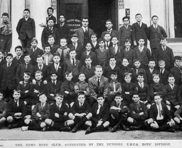 The YMCA's newsboys' club.  — Otago Witness, 13.9.1921.