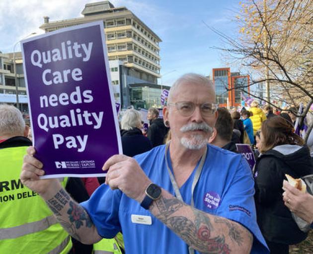 Senior registered nurse at the Christchurch Hospital respiratory ward Noel Moone during the...
