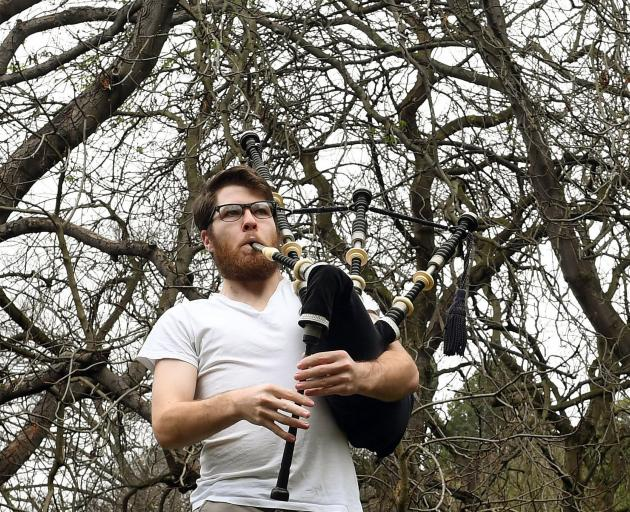 Bagpiper Ashley Honeywell's rehearsals on the edge of the Dunedin Town Belt have been attracting...