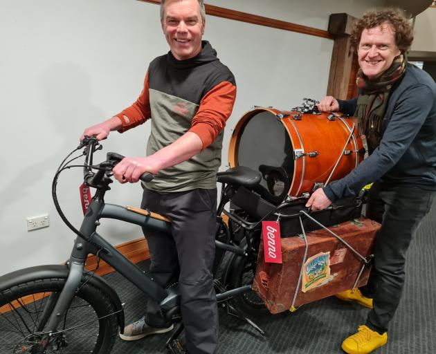 At the Shaping Our Futures forum in Wanaka are Phil Tisch (left), of Wanaka, and Cam Read, of...