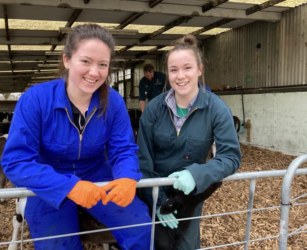 SIT-Telford rural animal technician students Millie Clarke and Jasmine Gilder.