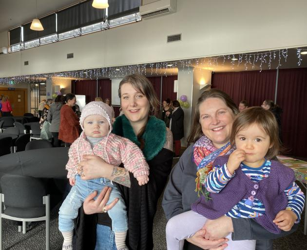 Dunedin mums Nell O'Dwyer-Strang (left), with daughter Dasha Plaskey (9 months), and Melody...