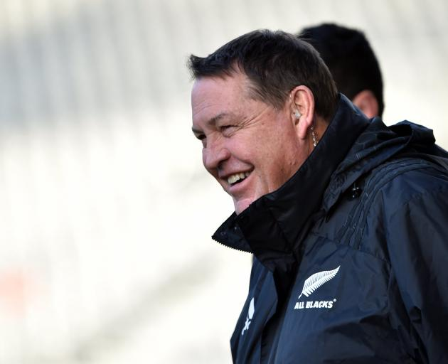 Steve Hansen guided the All Blacks to an otherworldly record of 93 wins from 107 tests. Photo:...