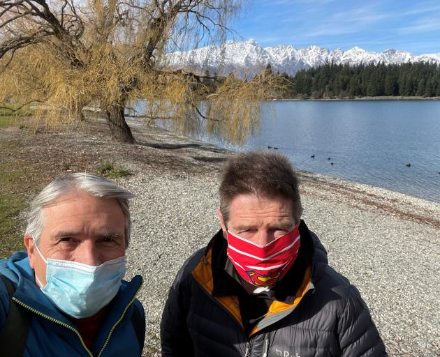 Gisborne doctors stranded in Queenstown, consultant respiratory physician Dr Peter Brown, left,...