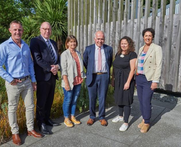 Christchurch Garden Festival Trust Board members Chris Walsh (chair), Murray Strong, Kiri Jarden,...