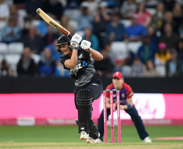 White Ferns and Otago star Suzie Bates on her way to 34 in the third T20 against England in...