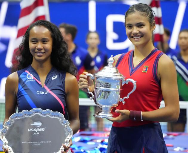 Leylah Fernandez (left) and Emma Raducanu charmed the New York crowds with their fearless play...