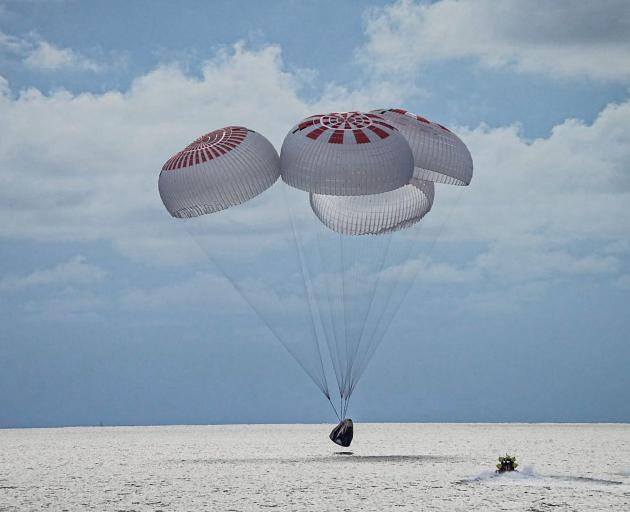 The quartet of newly minted citizen astronauts comprising the SpaceX Inspiration4 mission safely...