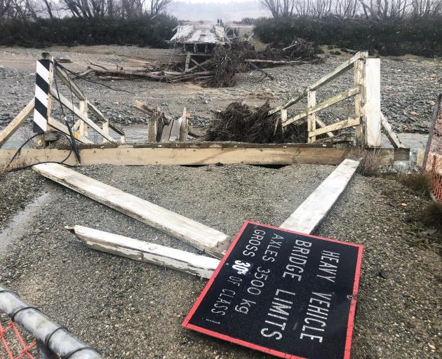 The Scott Lane bridge near Kyeburn was damaged during flooding in January this year. Nine months...