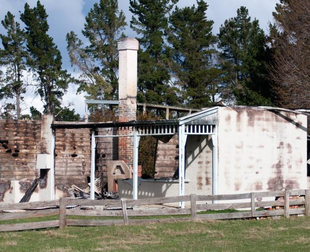 A holiday home at Gimmerburn, near Ranfurly, was destroyed by a fire early yesterday. PHOTO:...