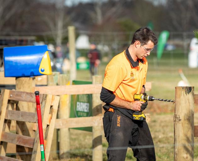 Jake Jarman in action at the FMG Young Farmer of the Year grand final in July. PHOTO: SUPPLIED