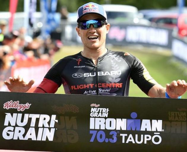 Braden Currie at the Taupō Ironman in 2016. Photo: Darryl Carey