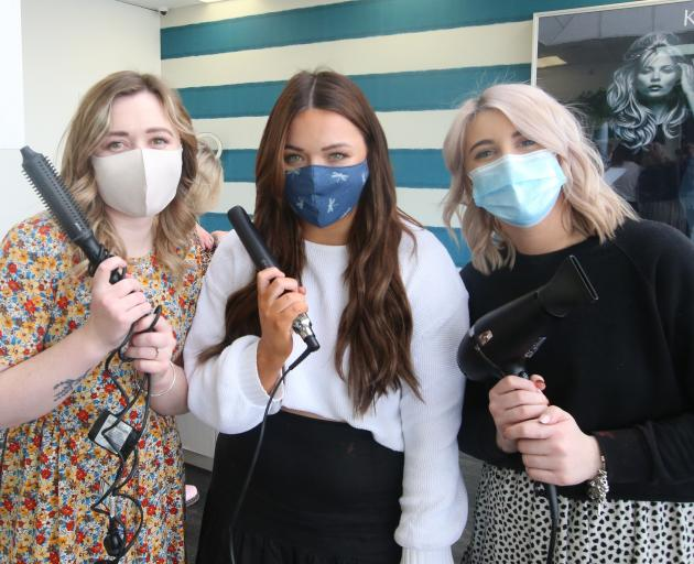 Capelli Ashburton hairdressers (from left) Sinead McNab, Aimee Burrows and Georgia Bennett are...