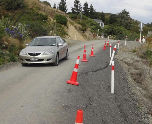 The latest Waitaki residents' survey shows satisfaction with roads continues to languish.PHOTO:...