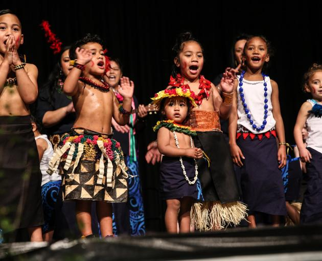 Members of the Kew Pacific Early Learning Centre kapa haka group perform at the 2019 Miharo...